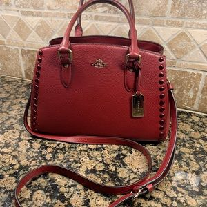 Coach Carryall Empire Handbag Pebbled Leather